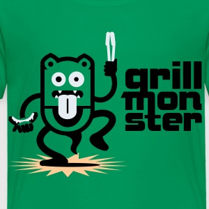 BBQ Grill Monster No.1.1 Kids' Shirts - Toddler Premium T-Shirt