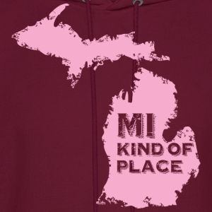MI kind of place (pink) Kids' Shirts - Men's Hoodie