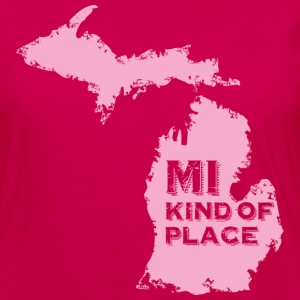 MI kind of place (pink) Kids' Shirts - Women's Premium Long Sleeve T-Shirt