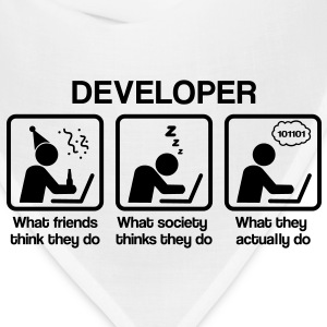 developer - What do you think they do? T-Shirts - Bandana