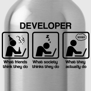 developer - What do you think they do? T-Shirts - Water Bottle