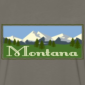 Montana Mountain Scene T-Shirts - Men's Premium Long Sleeve T-Shirt