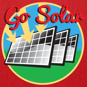 Go Solar. Solan Panels T-Shirts - Tote Bag