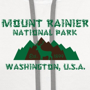 Mount Rainier National Park Women's T-Shirts - Contrast Hoodie