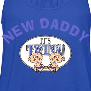 New Daddy Twins T-Shirt - Women's Flowy Tank Top by Bella