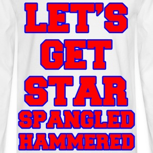 Let's Get Star Spangled Hammered Design Women's T-Shirts - Men's Long Sleeve T-Shirt