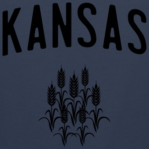 Kansas Wheat T-Shirts - Men's Premium Tank