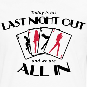 Last night out - and we are all in T-Shirts - Men's Premium Long Sleeve T-Shirt