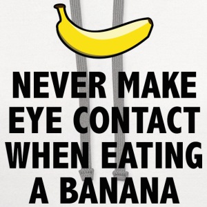 Banana Eye Contact - Contrast Hoodie