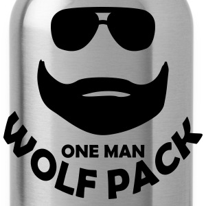 one man wolf pack T-Shirts - Water Bottle