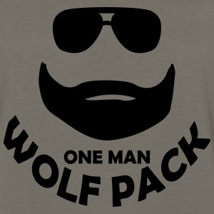 one man wolf pack T-Shirts - Men's Premium Long Sleeve T-Shirt