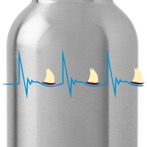 Sailing Heartbeat Women's T-Shirts - Water Bottle