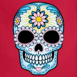Colorful Sugar Skull Women's T-Shirts - Adjustable Apron