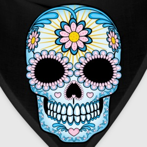Colorful Sugar Skull Women's T-Shirts - Bandana