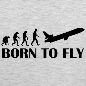 born to fly T-Shirts - Men's Premium Tank