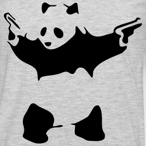 Hardcore Panda T-Shirts - Men's Premium Long Sleeve T-Shirt