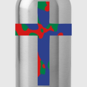 Abstract Cross T-Shirts - Water Bottle