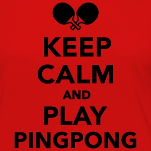 Keep calm Ping Pong Women's T-Shirts - Women's Premium Long Sleeve T-Shirt