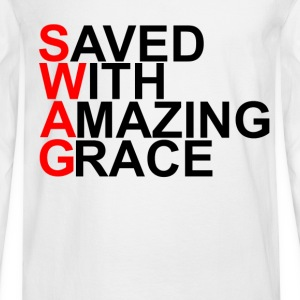 saved_with_amazing_grace_swag - Men's Long Sleeve T-Shirt