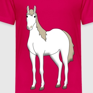 white horse Kids' Shirts - Toddler Premium T-Shirt
