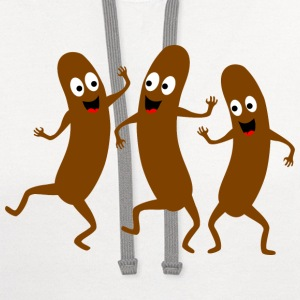 dancing sausage T-Shirts - Contrast Hoodie