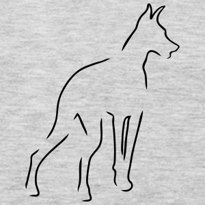 Doberman Outline - Men's Premium Long Sleeve T-Shirt