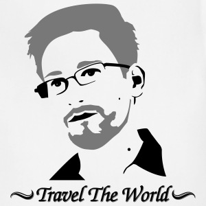 Edward Snowden: Travel the world T-Shirts - Adjustable Apron