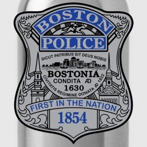 Boston Police Badge Small - Water Bottle