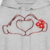 mickeys hand heart love T-Shirts - Men's Hoodie