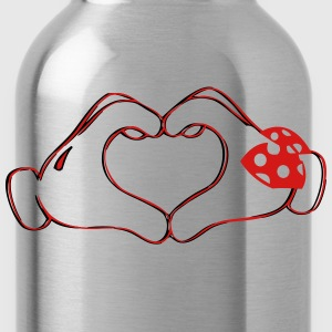 mickeys hand heart love T-Shirts - Water Bottle