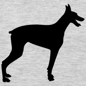 Doberman Silhouette 2 - Men's Premium Long Sleeve T-Shirt