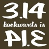 3.14 Backwards is PIE T-Shirts - Men's Premium T-Shirt