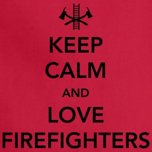 Keep Calm and Love Firefighters Women's T-Shirts - Adjustable Apron