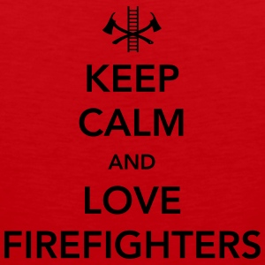 Keep Calm and Love Firefighters Women's T-Shirts - Men's Premium Tank