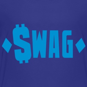 swag $WAG with dollars and diamonds Kids' Shirts - Toddler Premium T-Shirt