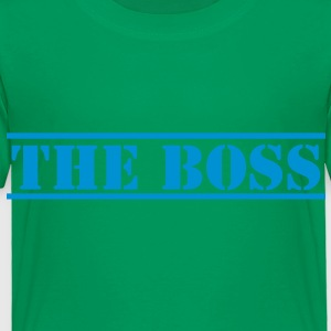 THE BOSS in stencil funny Kids' Shirts - Toddler Premium T-Shirt