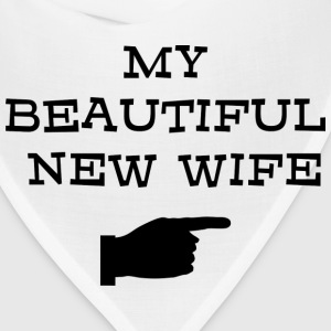 Just Married My Beautiful New Wife T-Shirt - Bandana