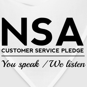NSA Customer Service Pledge Women's T-Shirts - Bandana