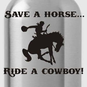 Save a Horse Ride a Cowboy T-Shirt - Water Bottle