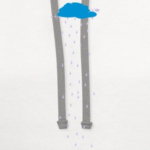 Cloud Rain Weather Water 2c Women's T-Shirts - Contrast Hoodie