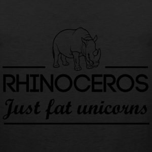 Rhinoceros are just fat unicorns T-Shirts - Men's Premium Tank