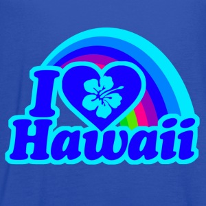 I Love Hawaii (blue rainbow) - Women's Flowy Tank Top by Bella