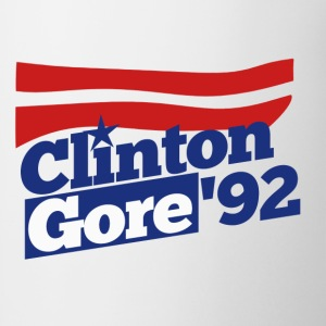 Clinton Gore retro 90s politics - Coffee/Tea Mug