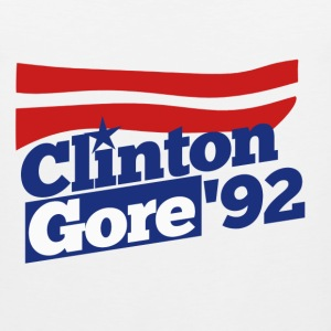 Clinton Gore retro 90s politics - Men's Premium Tank