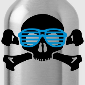 skull and glasses geek nerd T-Shirts - Water Bottle