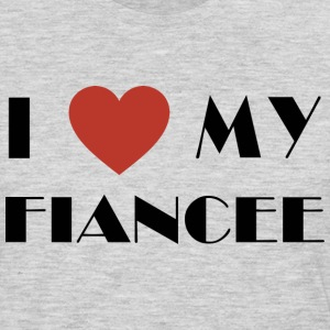I Love My Fiancee T-Shirt - Men's Premium Long Sleeve T-Shirt