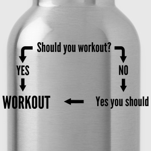 Should you workout? Flow Chart Women's T-Shirts - Water Bottle
