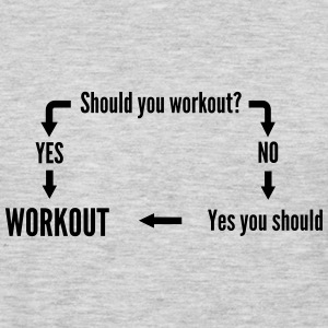 Should you workout? Flow Chart Women's T-Shirts - Men's Premium Long Sleeve T-Shirt