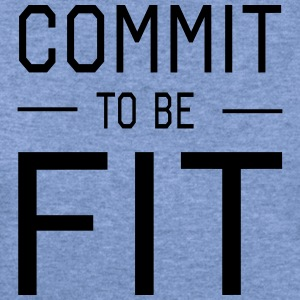 Commit to be Fit T-Shirts - Women's Wideneck Sweatshirt