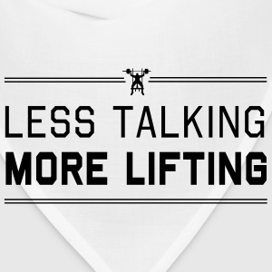 Less Talking More Lifting Women's T-Shirts - Bandana